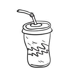 Soda black vector
