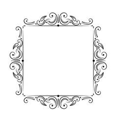 Square vintage classic black frame vector