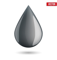 Symbol of petroleum black drop vector