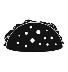 tacos icon simple black style vector image
