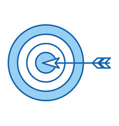 Target goal with dart isolated icon vector