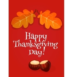 Thanksgiving Day greeting card invitation banner vector