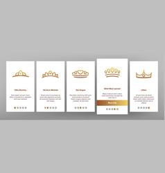 tiara royal accessory onboarding vector image