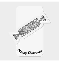 Toys on christmas tree - candy Christmas vector