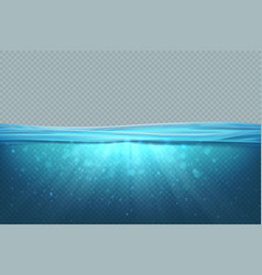 transparent underwater background realistic blue vector image