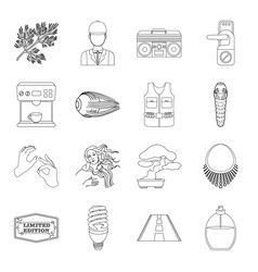Travel transportation hunting and other web icon vector