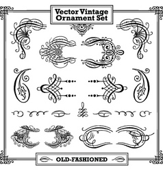 Vector vintage ornament set vector