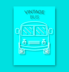 vintage bus poster background vector image