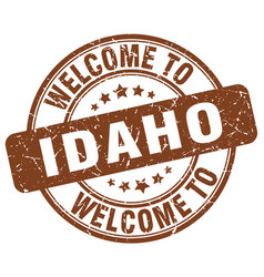 Welcome to idaho vector