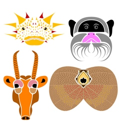 Wild animals australia vector