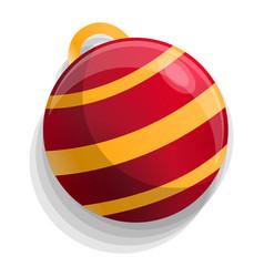 xmas tree red ball icon cartoon style vector image