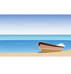 boat beach vector image vector image