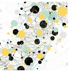 connections abstract vector image vector image