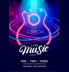 live music party design template vector image