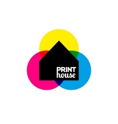 Printing icon print-house ink symbol design vector image