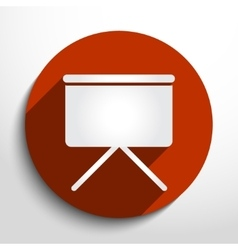 projection screen web icon vector image
