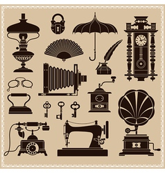 Vintage ephemera and objects vector
