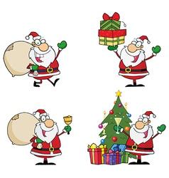 Santa Claus Cartoon Characters vector image