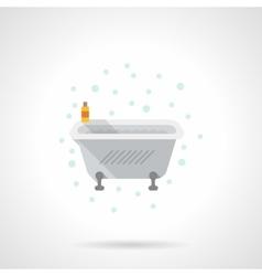 Bath with foam flat color icon vector image vector image