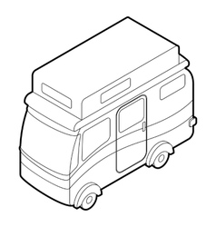 Camper van icon isometric 3d style vector image