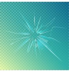 Cracked or broken shattered glass mirror vector