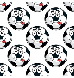 Goofy soccer ball seamless pattern vector image vector image