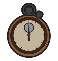 isolated chronometer icon vector image vector image