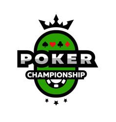 poker championship logo emblem vector image