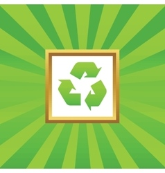 Recycle picture icon vector image