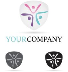 Three Figures Company Icon vector image