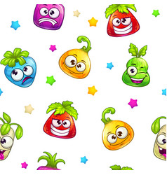 funny seamless pattern vector image