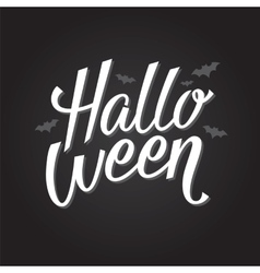 Halloween banner or poster lettering vector image