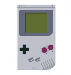 handheld video game device vector image vector image