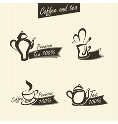 signs of tea vector image
