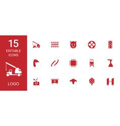 15 logo icons vector