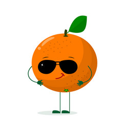 a cute orange character in the style of a cartoon vector image