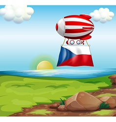 A floating balloon with the Czech Republic flag vector image