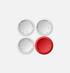 Abstract circles logotype vector
