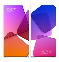 Abstract geometric headers vector