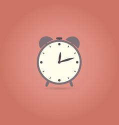 alarm flat design icon retro style vector image