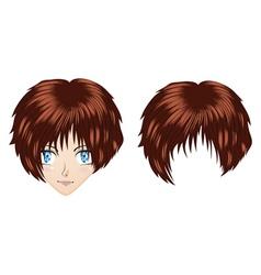 Anime brunette girl vector image