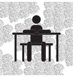 Back to school and education flat icon vector