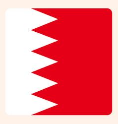 Bahrain square flag button social media vector