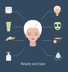Beauty and spa salon infographics beauty and spa vector