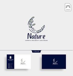 Beauty cosmetic line art logo template vector