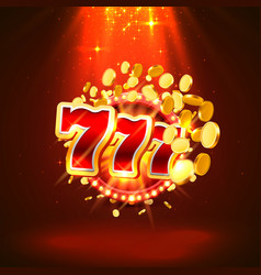 big win slots 777 banner casino vector image