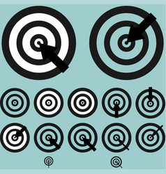 Black targets with arrow vector