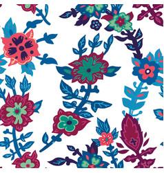 blooming spring or summer flowers vivid pattern vector image
