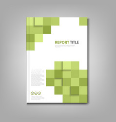 Brochures book or flyer with abstract green vector