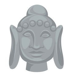buddha head statue indian culture religion vector image